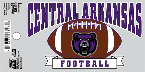 "3""x5"" Central Arkansas Football Decal"