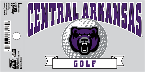 "3""x5"" Central Arkansas Golf Decal"