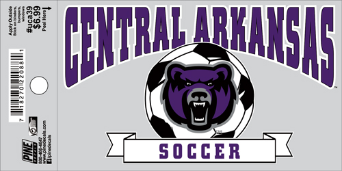 "3""x5"" Central Arkansas Soccer Decal"