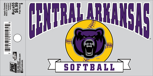 "3""x5"" Central Arkansas Softball Decal"
