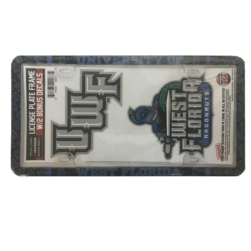 Plastic Thin Rim License Plate with Bonus Decals