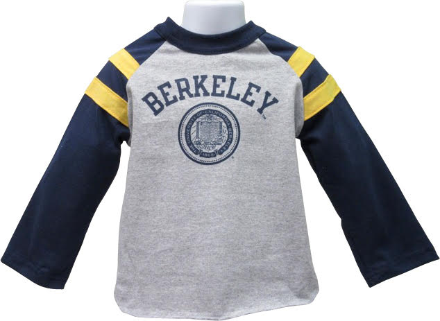University of California Berkeley Toddler Cotton Raglan Rugby tee Berkeley Seal