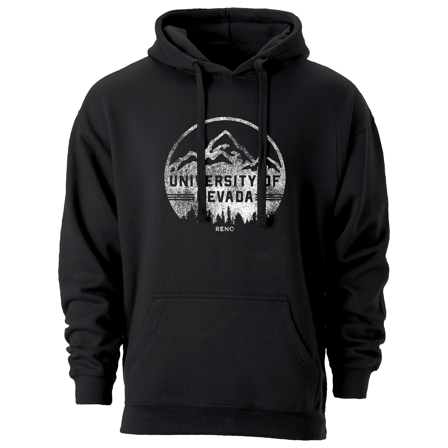 Black Hoodie- UNR Mountain Backdrop