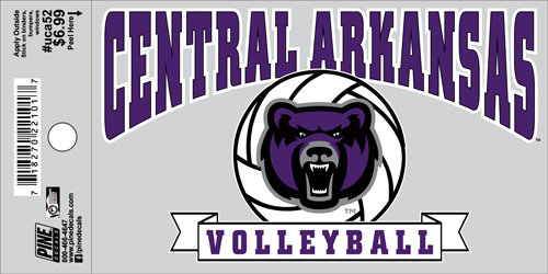 "3""x5"" Central Arkansas Volleyball Decal"
