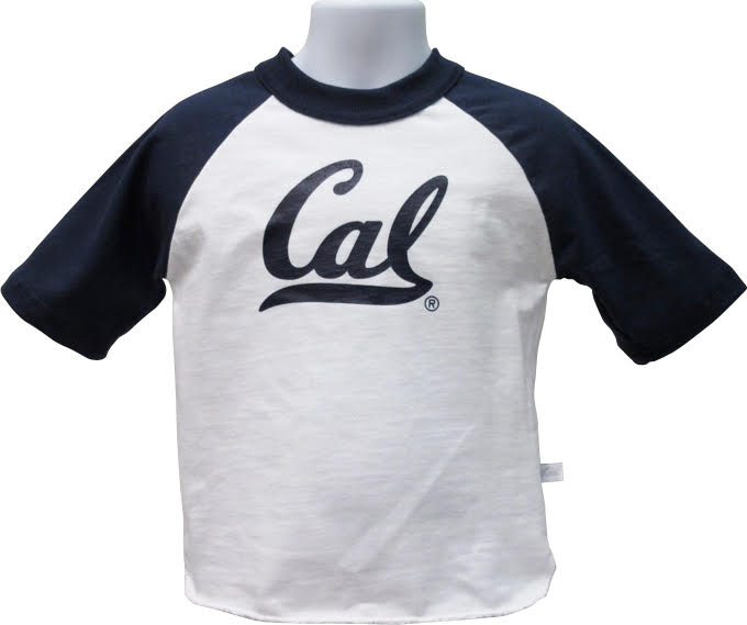 University of California Berkeley Girls Raglan Tee Cal Logo