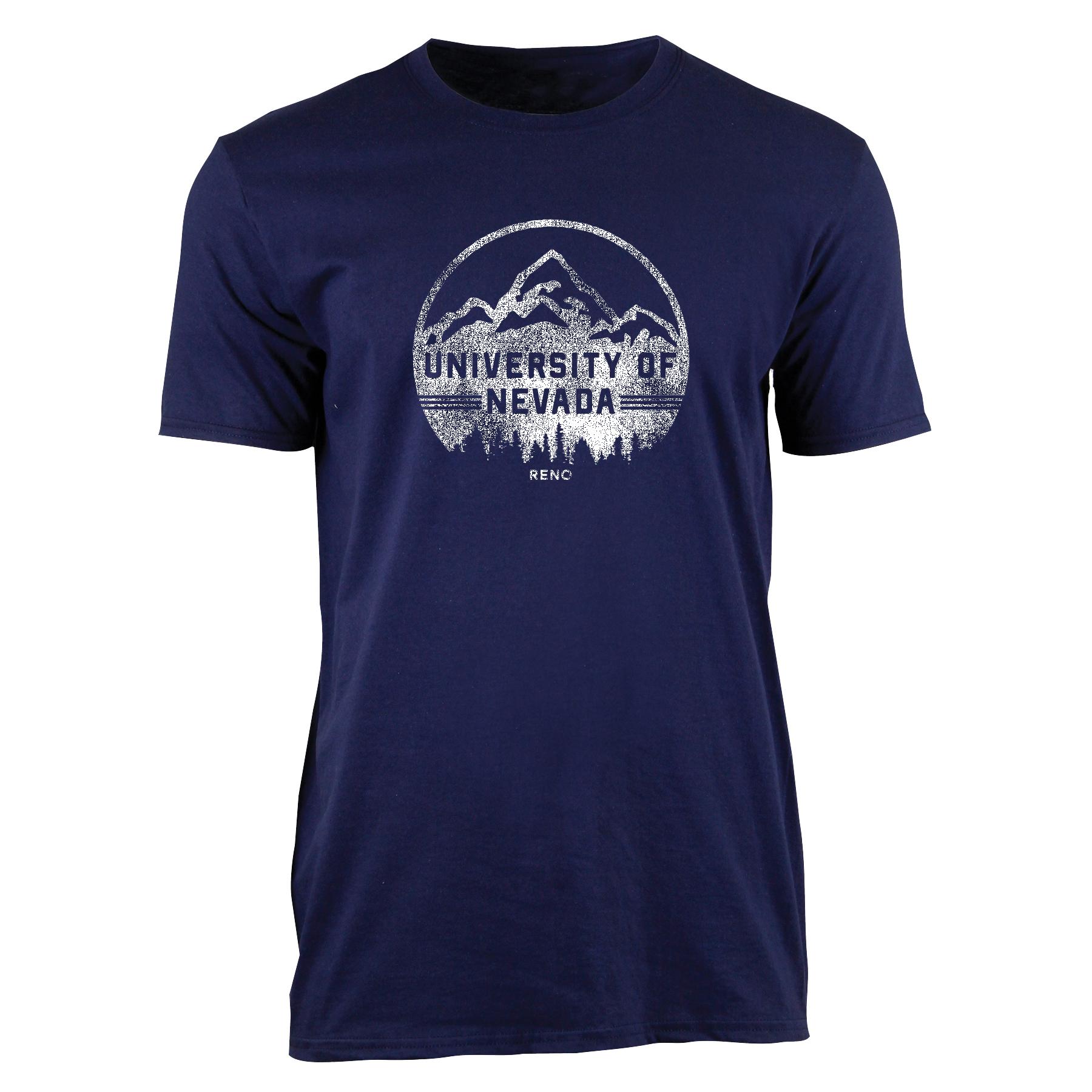 Navy Shirt- UNR Mountain Backdrop