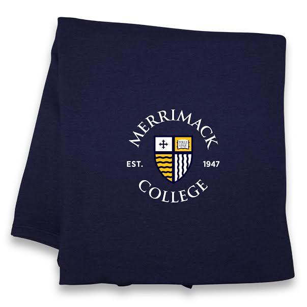 Vintage Navy Flock Sweatshirt Blanket