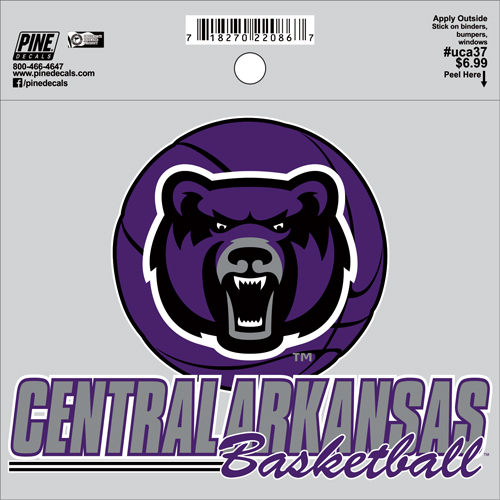 "4""x5"" Central Arkansas Basketball Decal"