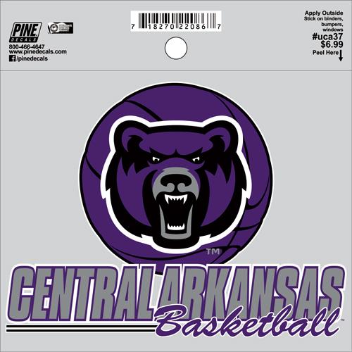 "4""x5"" Central Arkansas Basketball Decal"