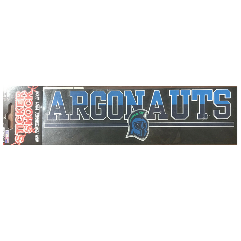 "3x10"" Duo Tone Argonauts Logo Decal"