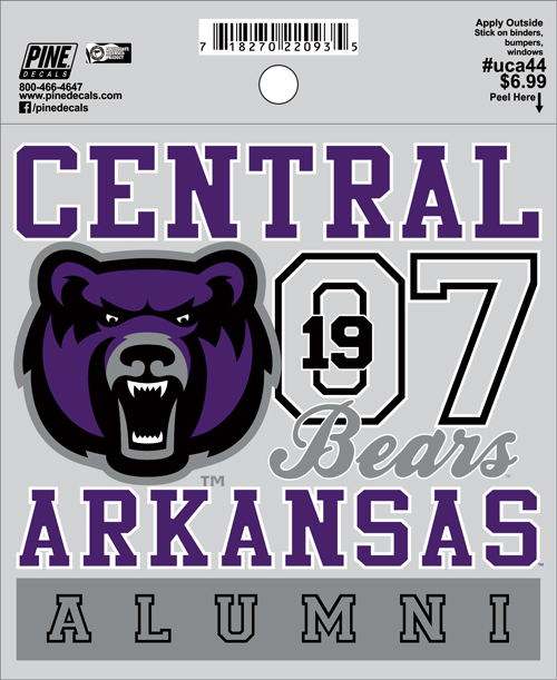 "4.5""x4.5"" Central Arkansas Alumni Decal"