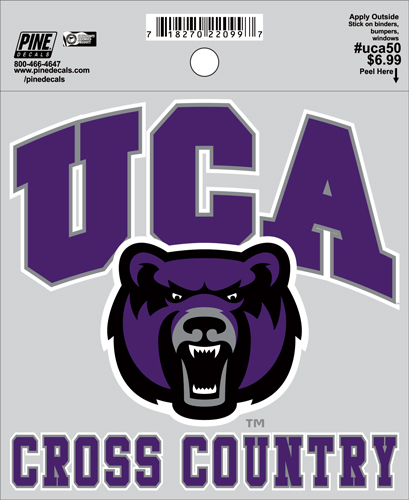 "4.5""x4.5"" UCA Cross Country Decal"