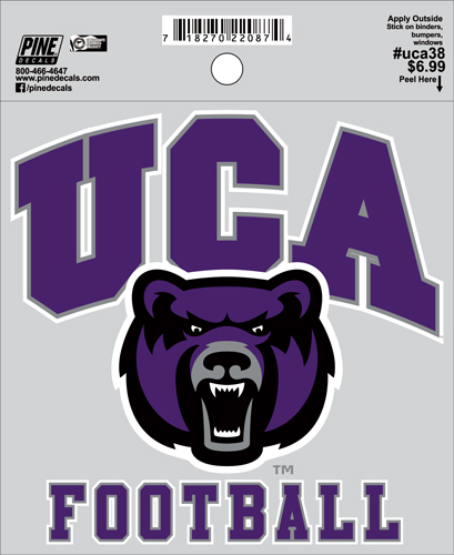 "4.5""x4.5"" UCA Football Decal"