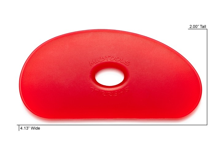 Polymer Rib Shape 5 Red Very Soft