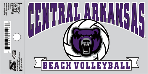 "3""x5"" Central Arkansas Beach Volleyball Decal"