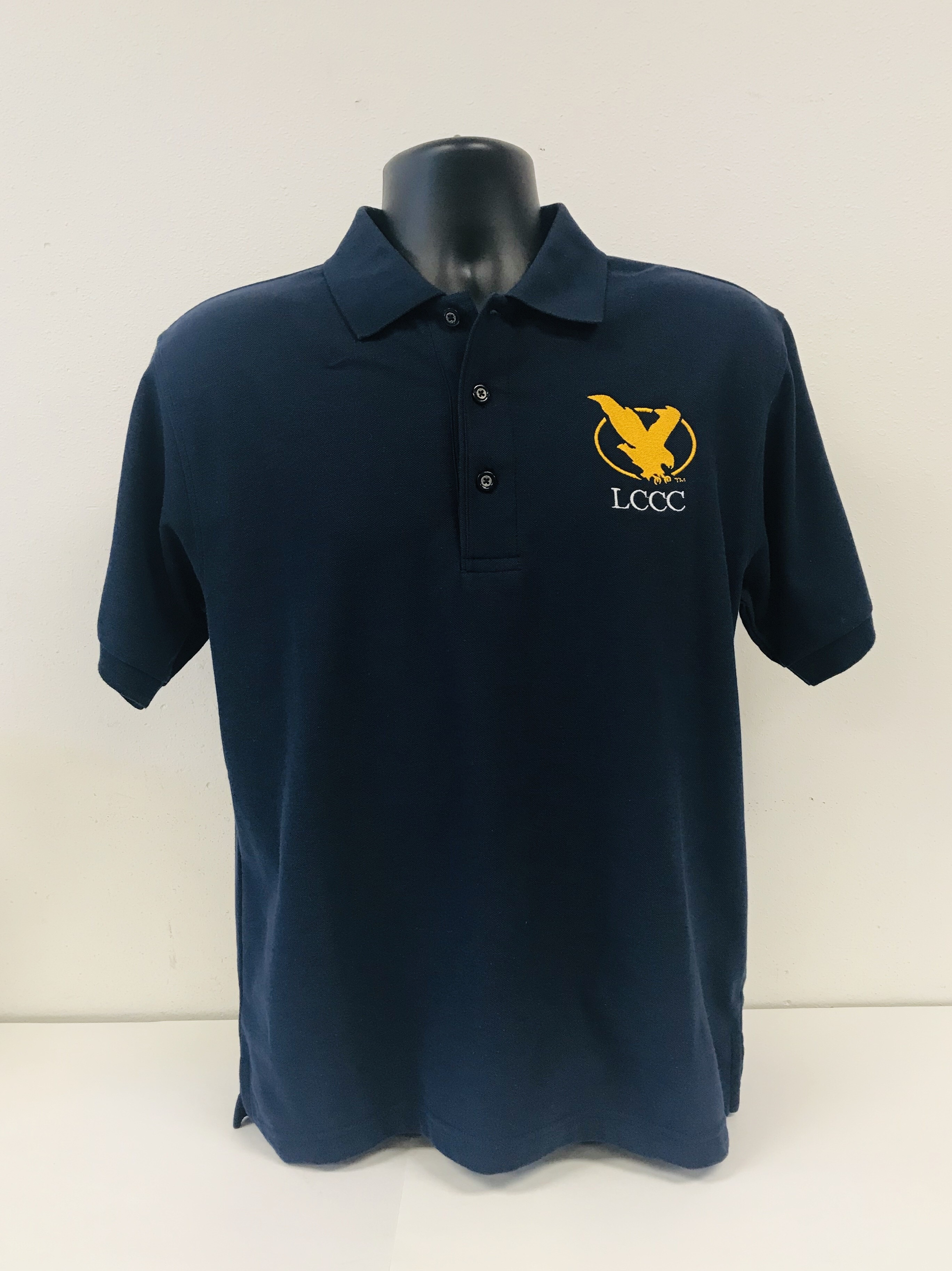 Men's Short Sleeve Polo with Embroidered Logo