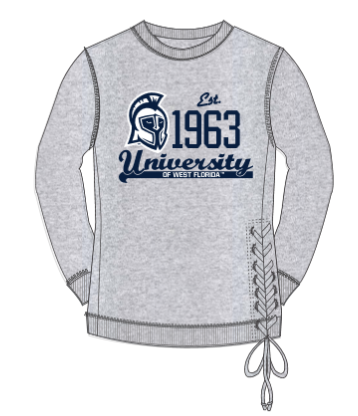 LADIES RALLY LACE-UP PULLOVER