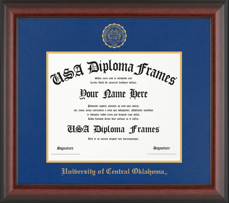 University of Central Oklahoma Diploma Frame