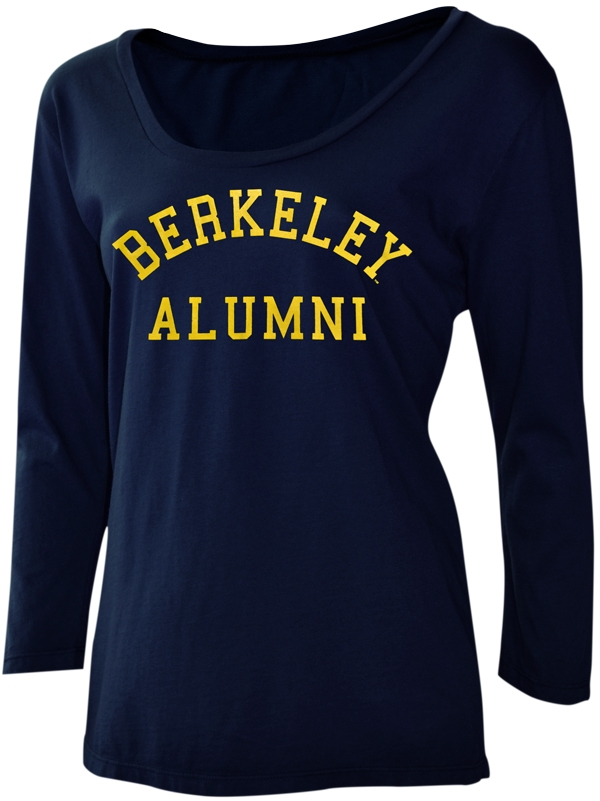 MD25-Cal Bears Women's Ashley 3/4 Sleeve Tee Berkeley Bear by Utrau