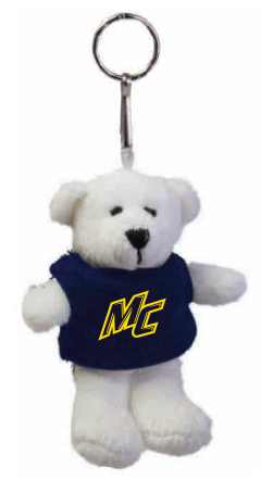 White Teddy Bear Key Chain