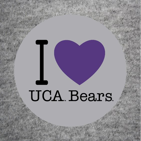 I Heart UCA Bears Button