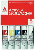 Acryla Gouache 10ml Sampler Set/5