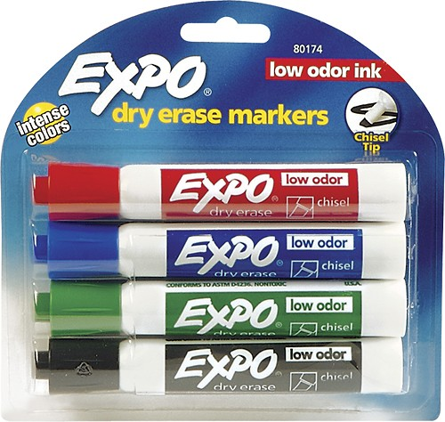 Expo Dry Erase Markers (4 Pack)