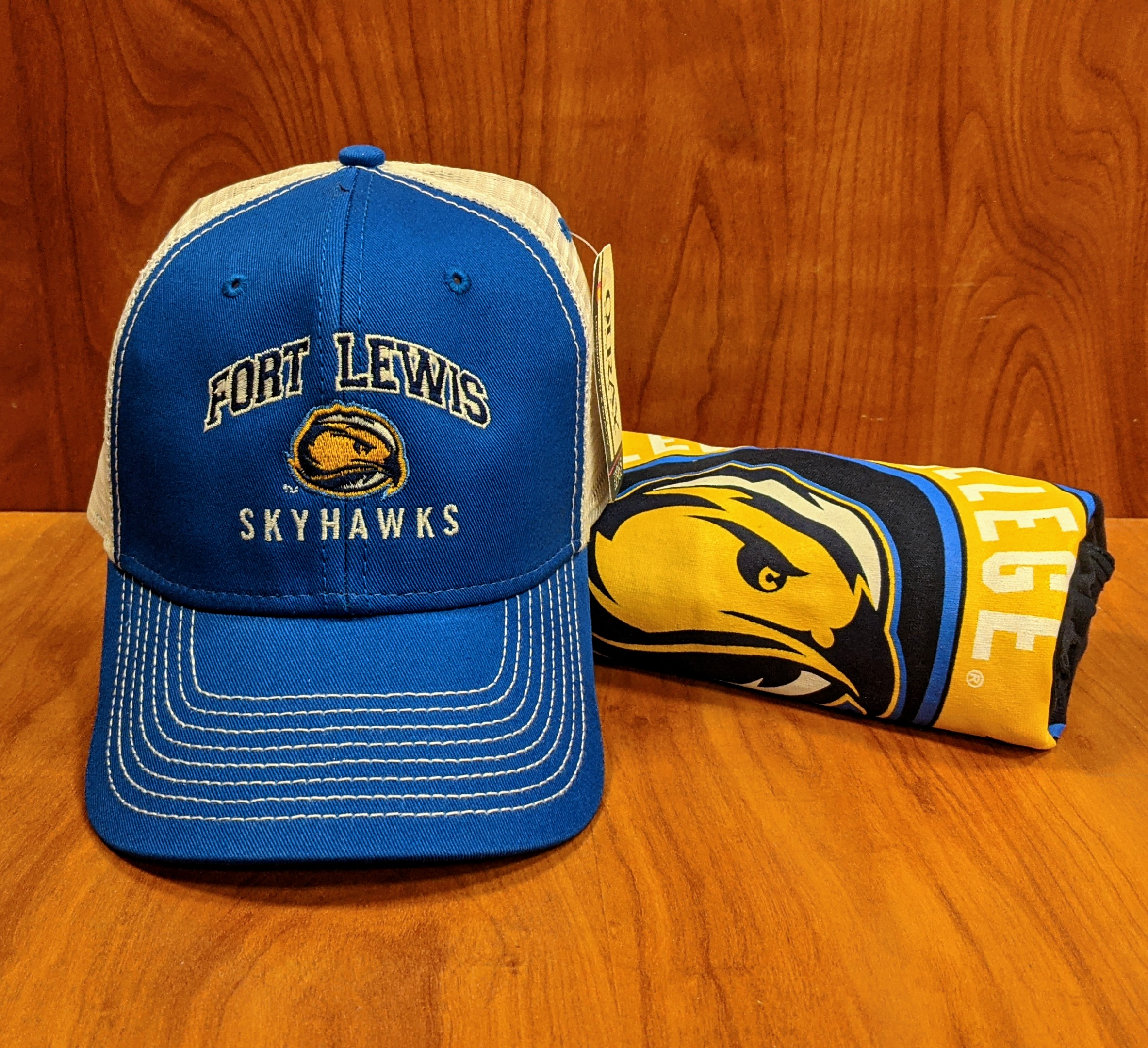 Fort Lewis Skyhawks Hat and T-Shirt Bundle