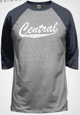 Central Baseball Style Tee