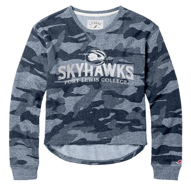 Skyhawks Camo Terry Crew