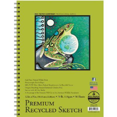 "Premium Recycled Sketch Pad 12""x9"""