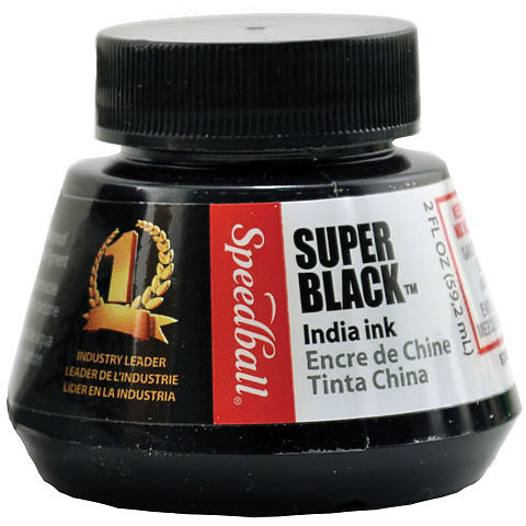 Super Black India Ink 2oz.