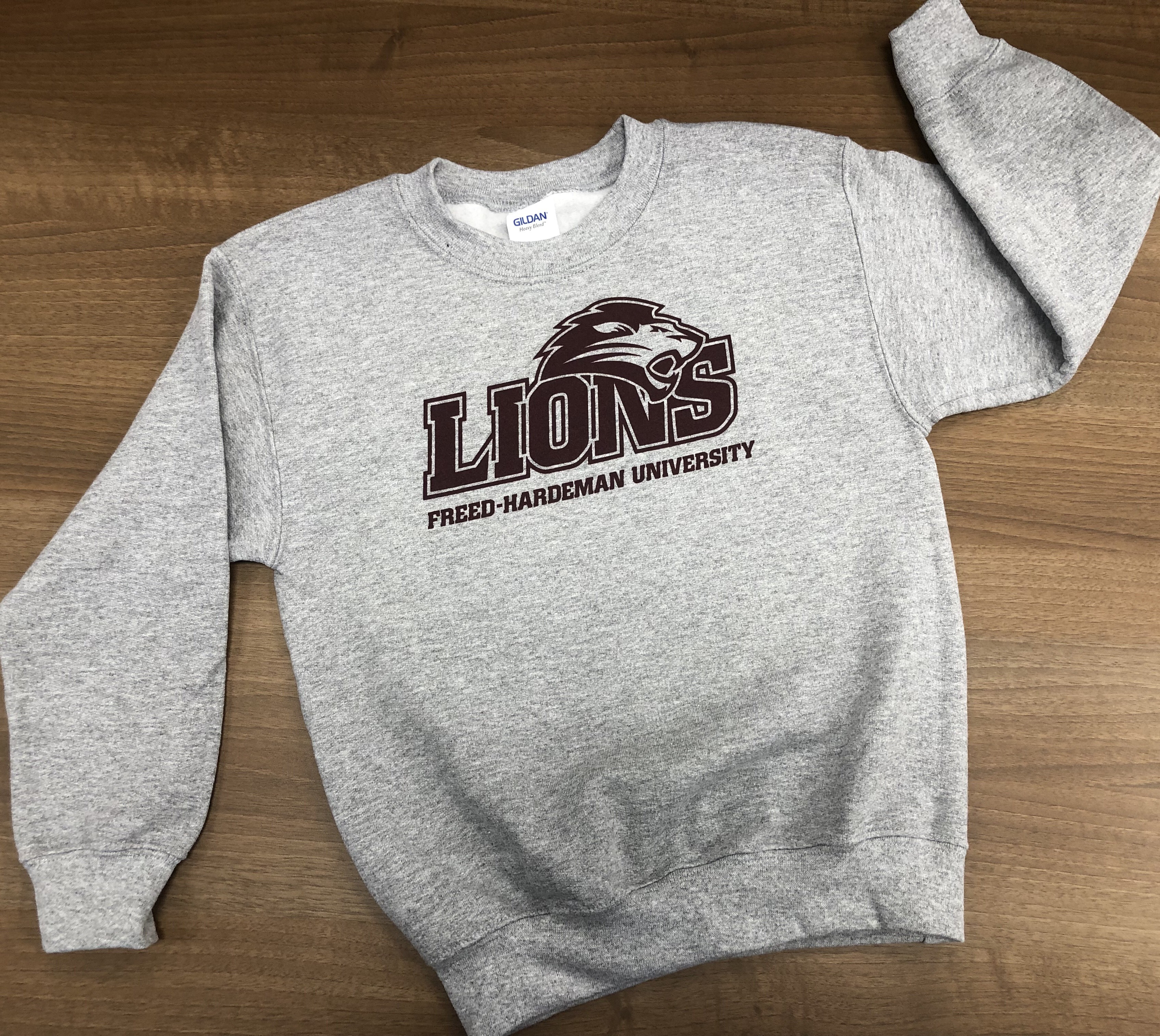 Youth Crew Neck FHU Lions Sweatshirt