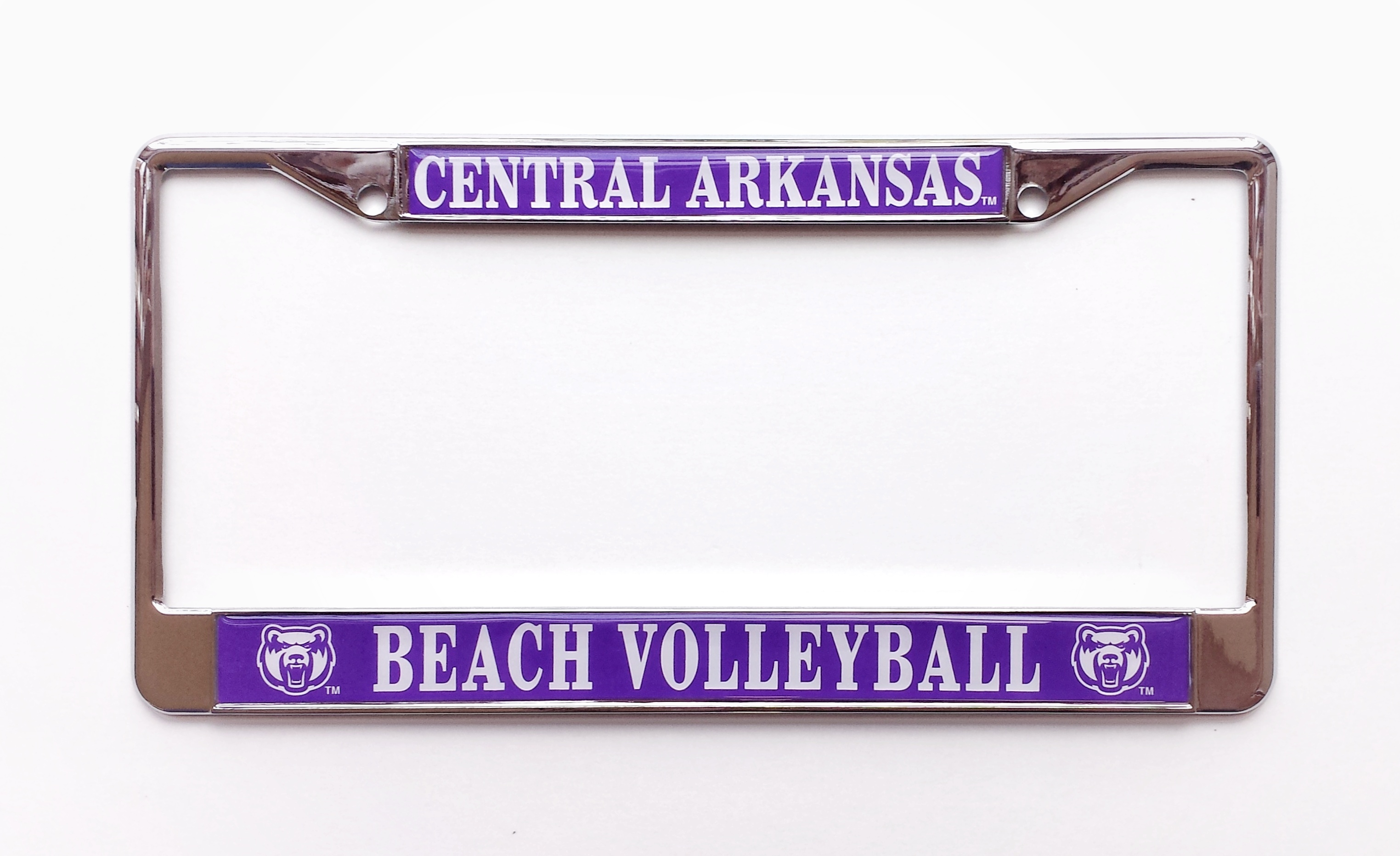 Beach Volleyball Central Arkansas License Frame