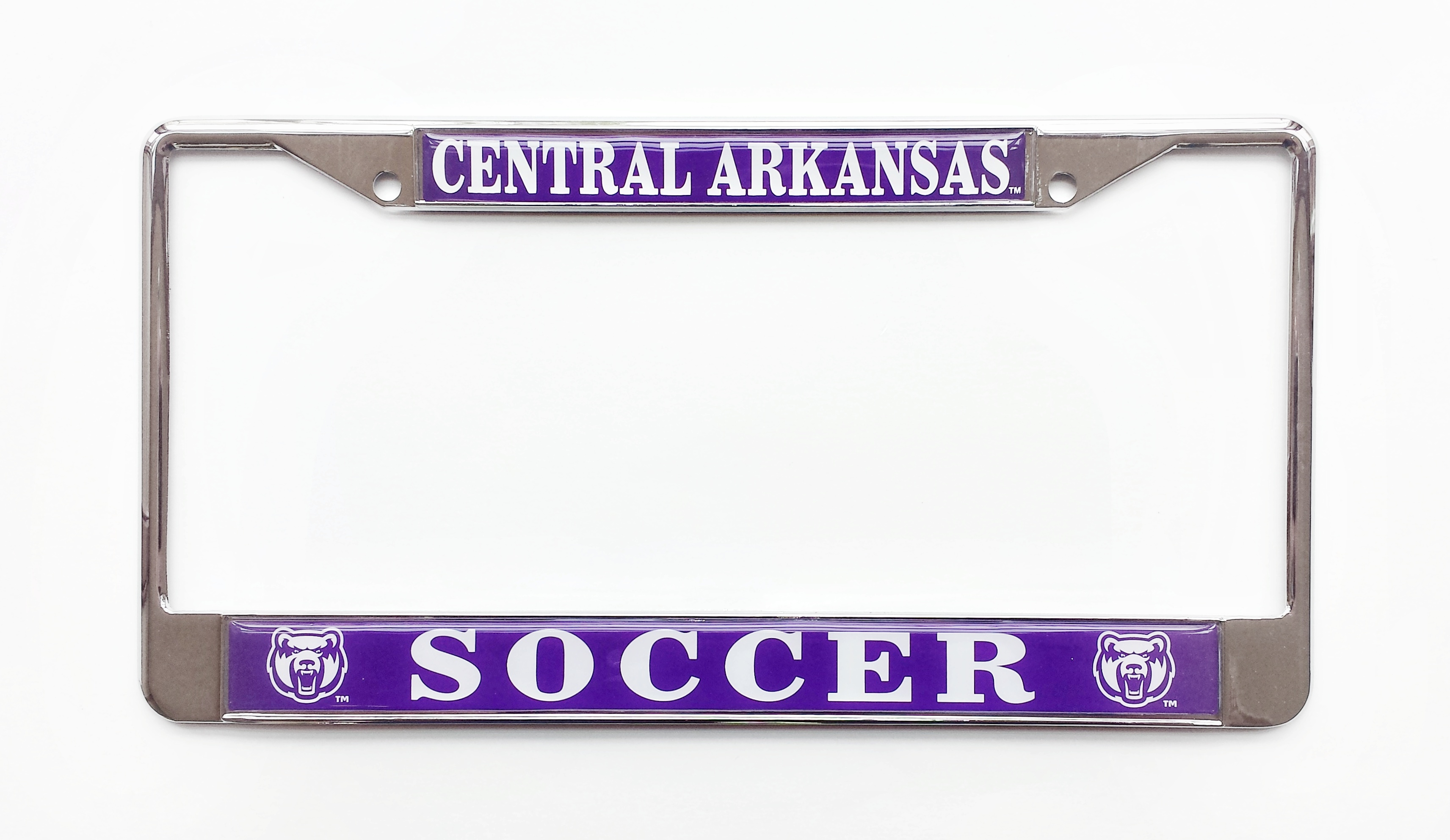 Central Arkansas Soccer License Plate Frame