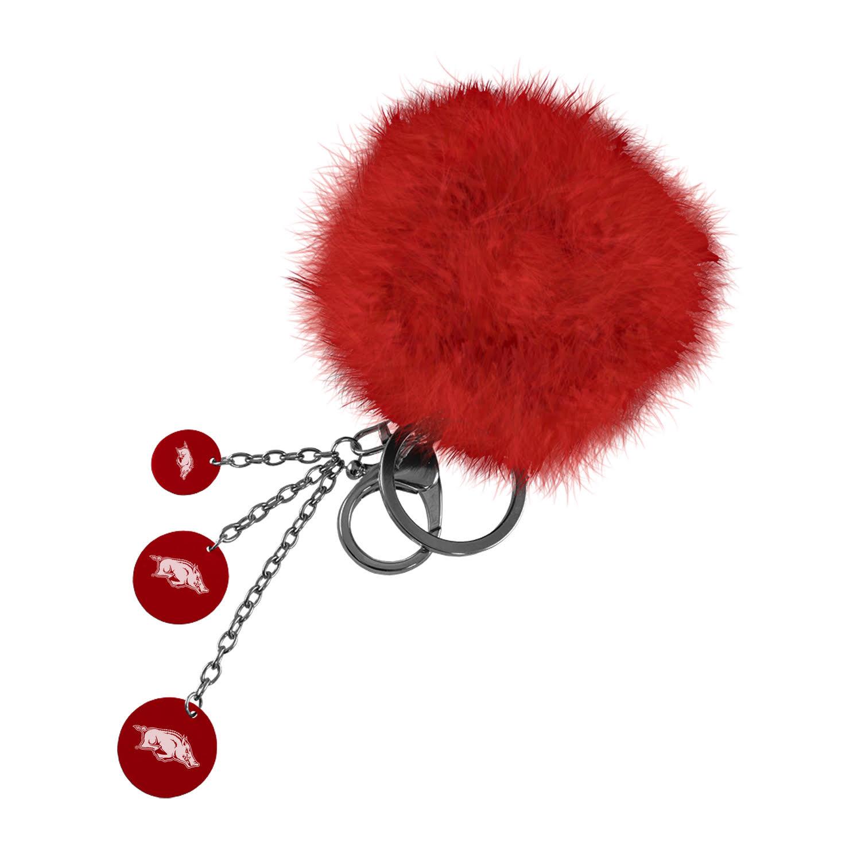 Puffball Key Chain Running Hog