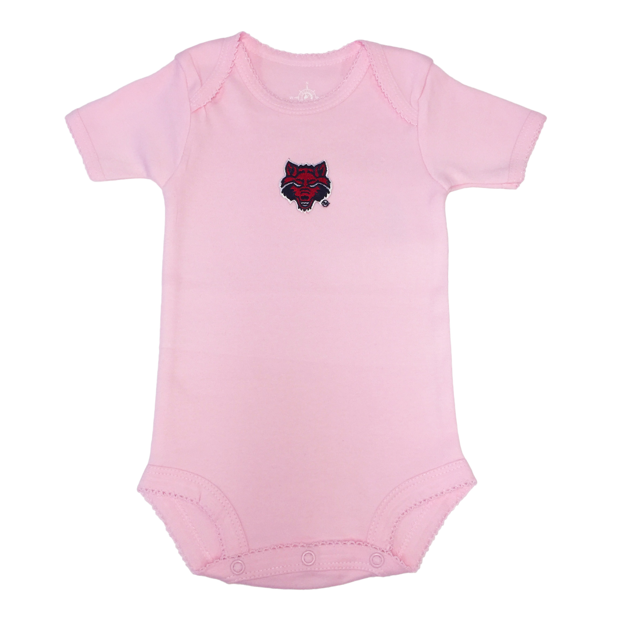 Red Wolves Picot Bodysuit