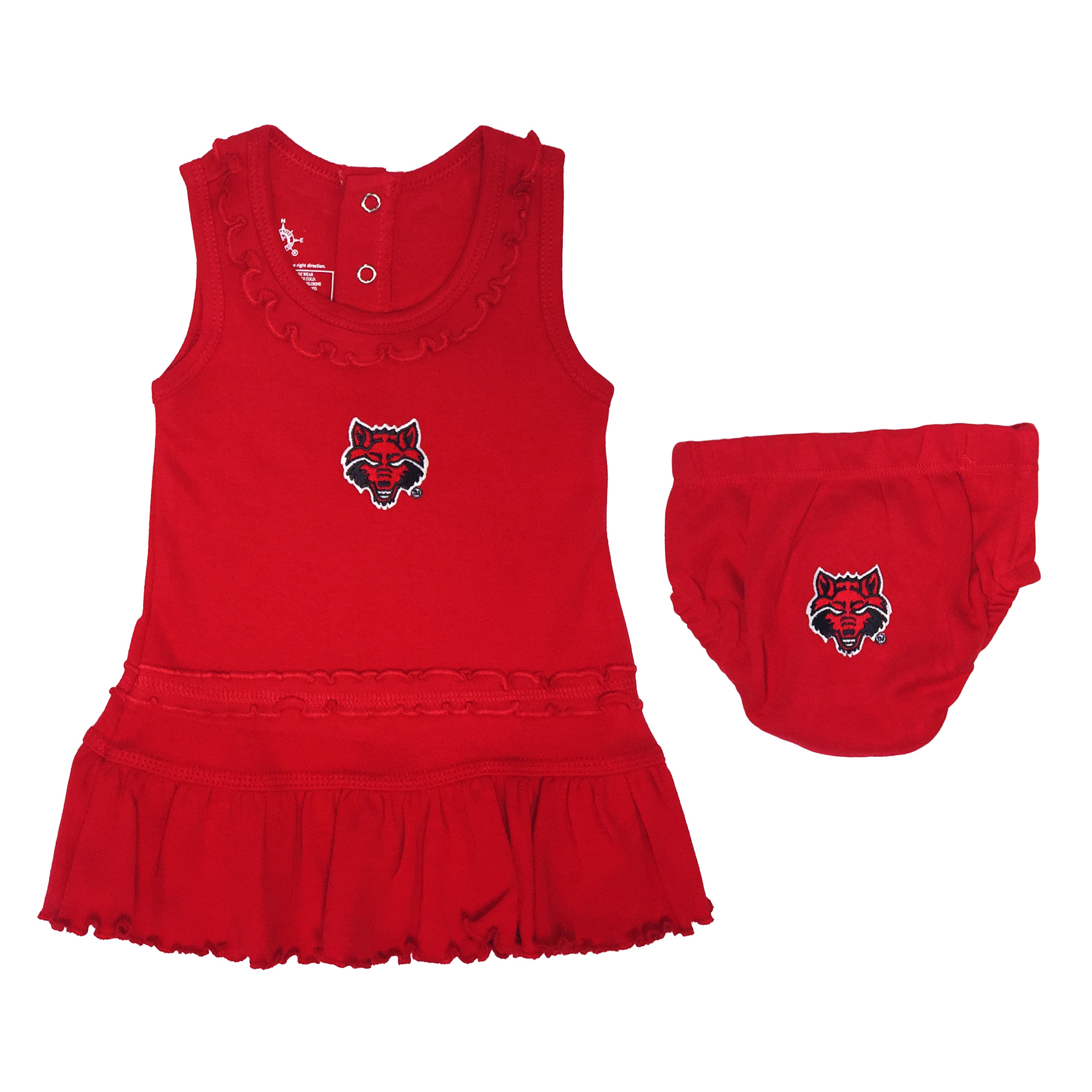 Red Wolves Ruffle Dress and Bloomer