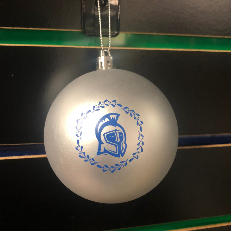 Silver Argo Head Ornament