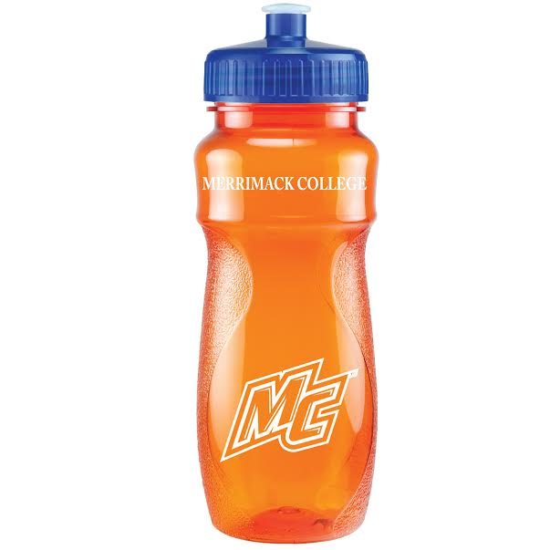 Orange with Blue Lid Water Bottle