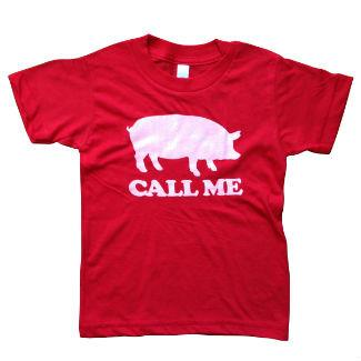 Call Me Red Kids SS Tee
