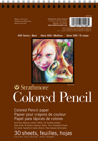 Colored Pencil Pad 400 Series 6x8