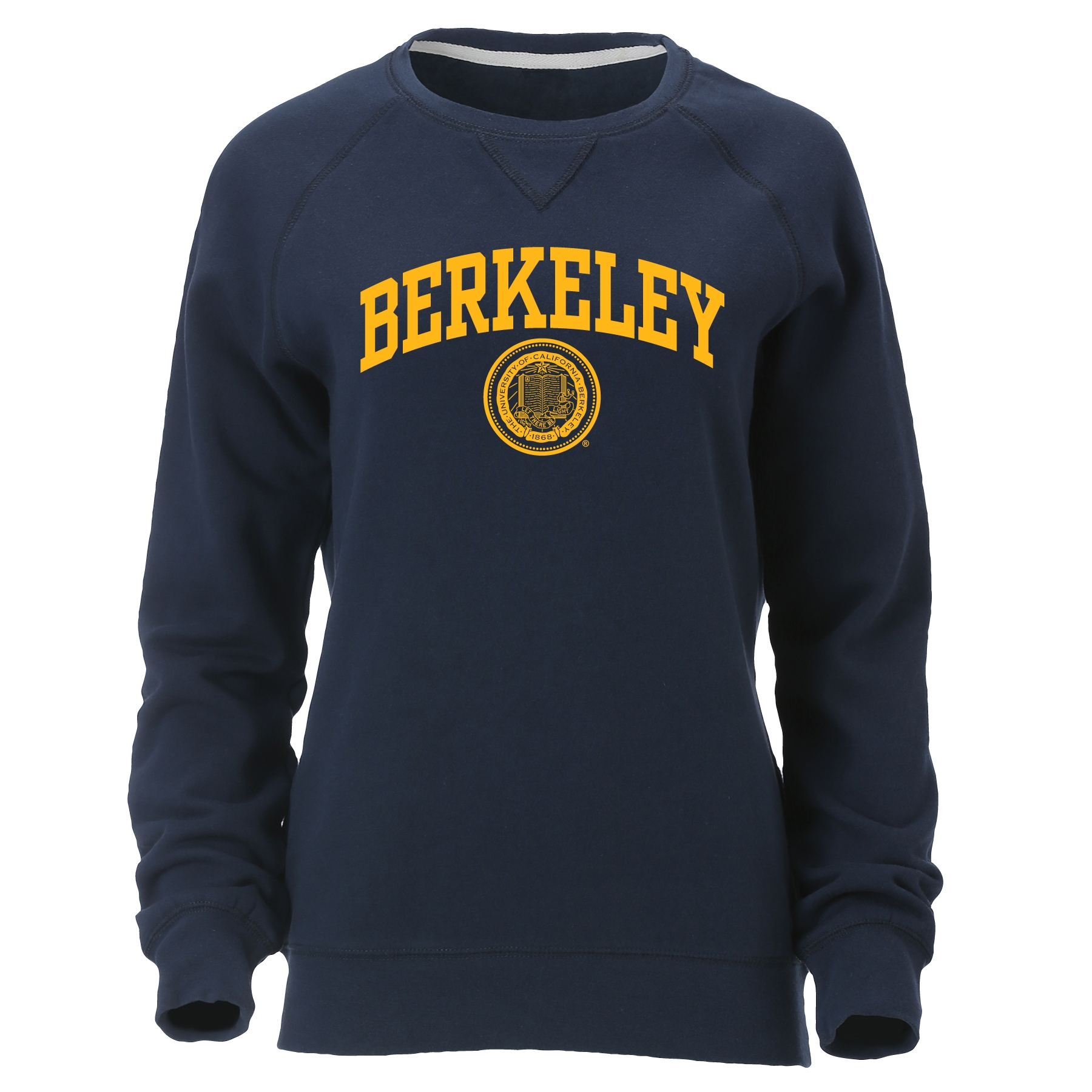 University of California Berkeley Women's Hotshot Long Sleeve Crew Berkeley Seal Logo
