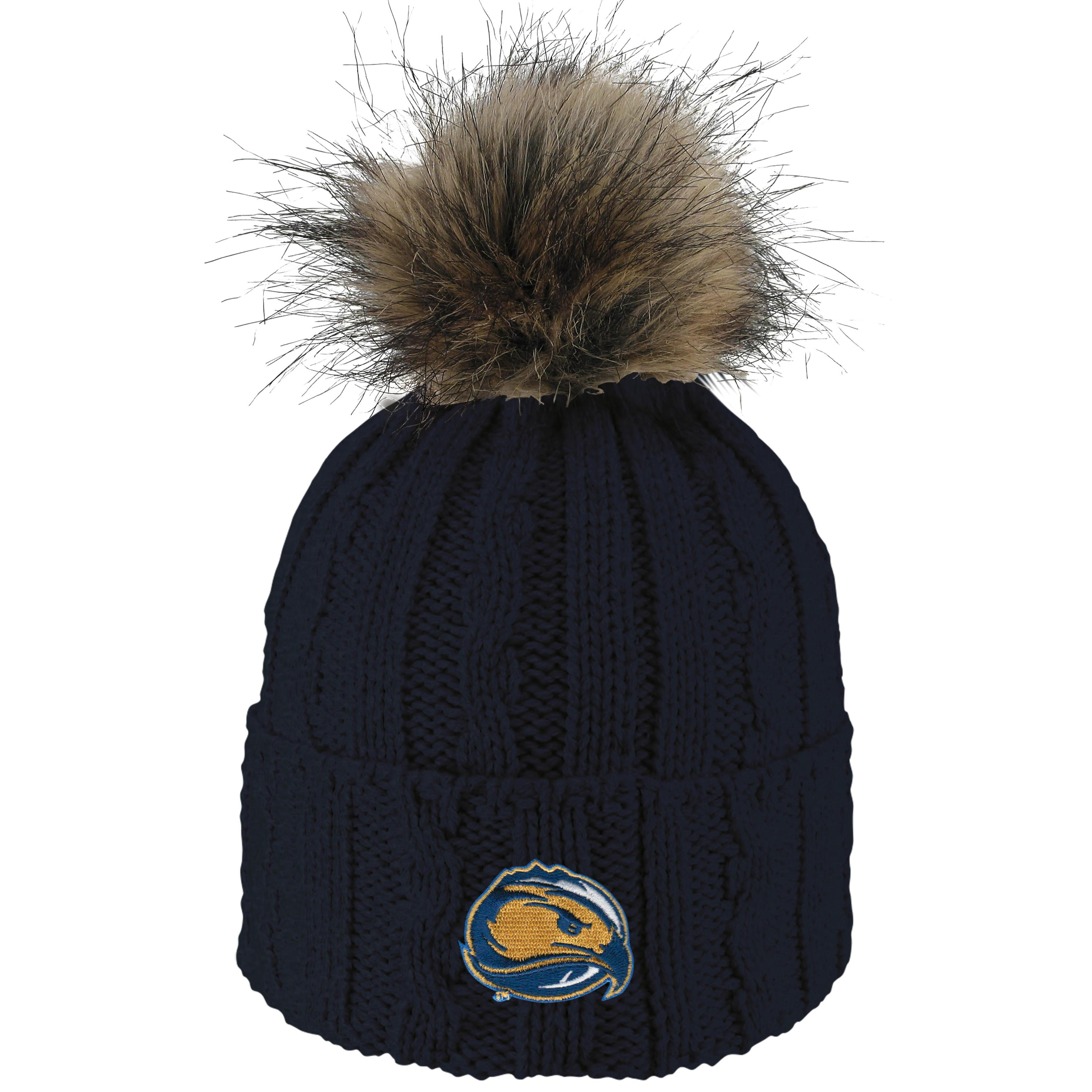 Skyhawks Knit Beanie w/ Faux Fur Pom