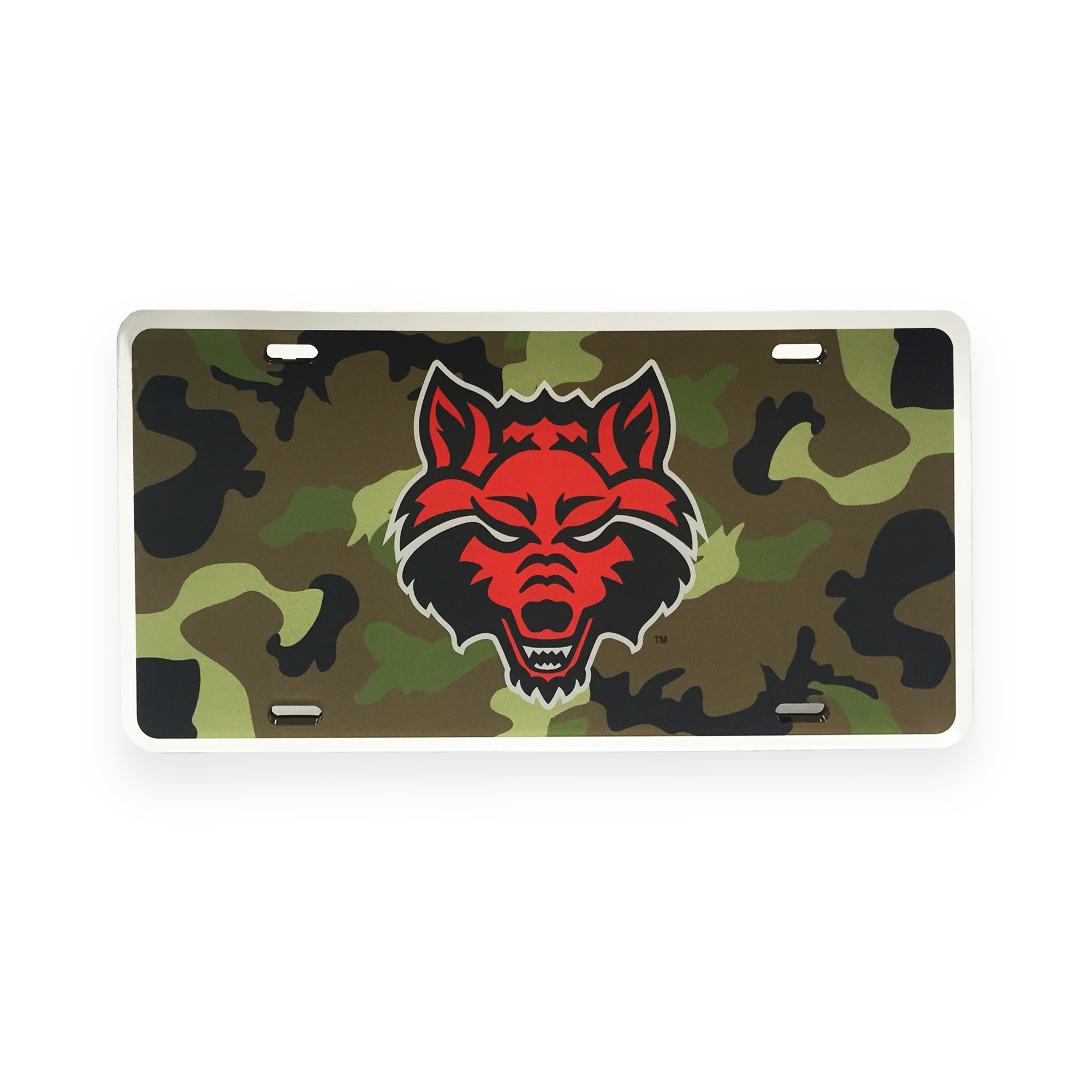 Red Wolves Camo Plate