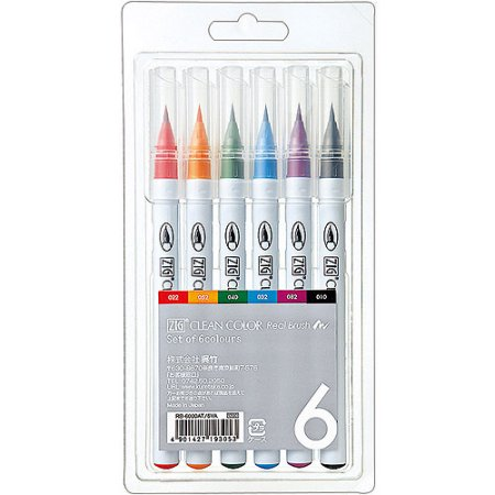 Zig Clean Color Real Brush 6 Color Set
