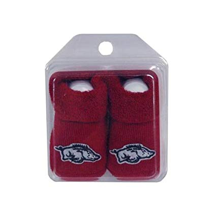 AR Razorbacks Infant Booties