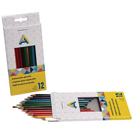 Watercolor Pencils 12-Color Set