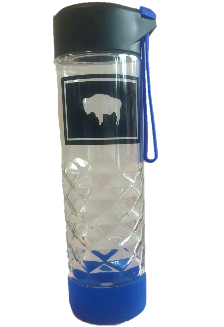 20 Oz. Wyoming Flag Glass Water Bottle