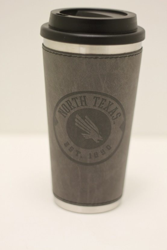 DAKOTA TRAVEL MUG WITH LEATHER SLEEVE